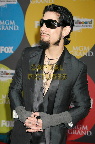 DAVE NAVARRO.2006 Billboard Music Awards held at the MGM Grand Hotel and Casino, Las Vegas, Nevada, USA..December 4th, 2006.half length grey gray suit sunglasses shades goatee tattoo rings nail polish varnish.CAP/ADM/RE.©Russ Elliot/AdMedia/Capital Pictures