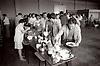 Miners strike 1984, Miners' wives preparing food for striking miners; Blyth Miners Welfare Hall; Northumberland; NE England