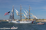 The U. S. Coast Guard Cutter Barque Eagle in Boston Harbor, Boston, Massachusetts, USA