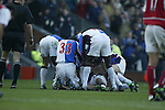 Tugay is mobbed after scoring - Blackburn Rovers v Arsenal - Premier League - Ewood Park Stadium - Blackburn - 15th March 2003 - Pics Simon Bellis