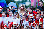 Donegal Rose, Amy Callaghan at The Rose of Tralee parade on Saturday night.