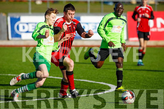 Action from the AC Athletic v Killarney Celtic game in Mounthawk Park on Sunday last