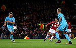 Jesse Lingard of Manchester United scores his sides fourth goal during the UEFA Europa League match at Old Trafford, Manchester. Picture date: November 24th 2016. Pic Matt McNulty/Sportimage