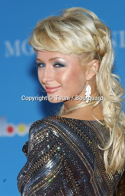 Paris Hilton at the Billboard Music Awards at the MGM Grand in Las Vegas. December 8, 2004.