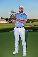 Corey Conners (CAN) holds the trophy for winning the Valero Texas Open, at the TPC San Antonio Oaks Course, San Antonio, Texas, USA. 4/7/2019.<br /> Picture: Golffile | Ken Murray<br /> <br /> <br /> All photo usage must carry mandatory copyright credit (© Golffile | Ken Murray)