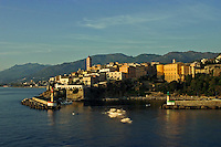 Corsica. Bastia.  Old town and harbor/harbour.