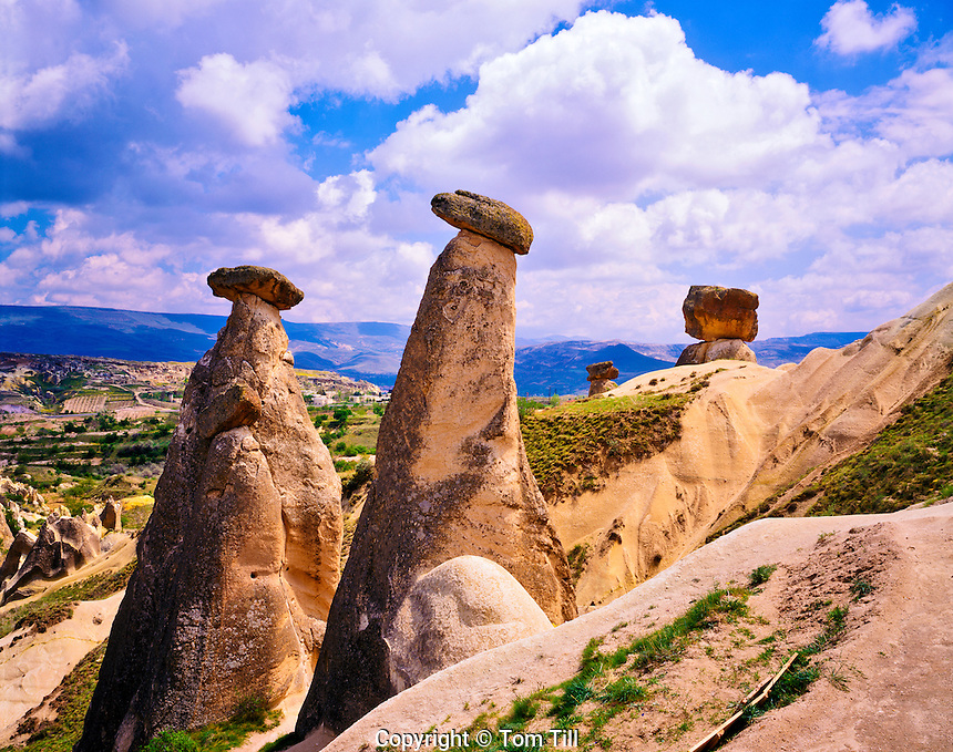 The Fairy Chimneys, Volcanic Deposits near Urgup, Goreme National Park, Cappadocia  Region, Turkey