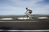 Team LottoNL-Jumbo rider speeding down the Coll de Rates (Alicante, Spain)<br /> <br /> January 2016 Training Camps