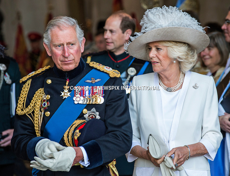 18.06.2015; London, UK: PRINCE CHARLES AND CAMILLA<br /> attended a service of commemoration at St Paul&rsquo;s Cathedral to mark the 200th Anniversary of the Battle of Waterloo. <br /> Mandatory Credit Photo: &copy;MoD/NEWSPIX INTERNATIONAL<br /> <br /> (Failure to credit will incur a surcharge of 100% of reproduction fees)<br /> IMMEDIATE CONFIRMATION OF USAGE REQUIRED:<br /> Newspix International, 31 Chinnery Hill, Bishop's Stortford, ENGLAND CM23 3PS<br /> Tel:+441279 324672  ; Fax: +441279656877<br /> Mobile:  07775681153<br /> e-mail: info@newspixinternational.co.uk<br /> **ALL FEES PAYABLE TO: &quot;NEWSPIX  INTERNATIONAL&quot;**