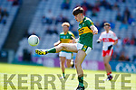 Donal O'Sullivan Kerry in action against  Derry in the All-Ireland Minor Footballl Final in Croke Park on Sunday.