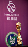 HAIKOU, CHINA - OCTOBER 27: Mission Hills Star Trophy pictured during the tournament opening press conference on October 27, 2010 in Haikou, China. The Mission Hills Star Trophy is Asia's leading leisure liflestyle event and features Hollywood celebrities and international golf stars.  Photo by Victor Fraile / studioEAST
