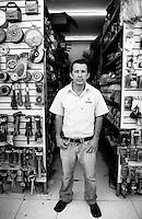 Gustavo Hernandez Felix. Hardware store owners in El Dorado, Sinaloa,  Mexico