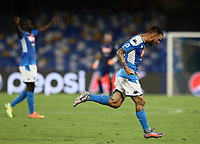 19th July 2020; Stadio San Paolo, Naples, Campania, Italy; Serie A Football, Napoli versus Udinese; Matteo Politano of Napoli celebrates after scoring in the 95th  minute for 2-1  and winning the game