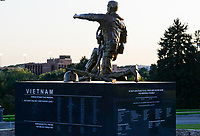 USA, Nebraska, Omaha, Vietnam and Korea war memorial