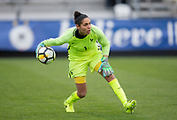 Columbus, Ohio - Thursday March 01, 2018: Karina Benameur during a 2018 SheBelieves Cup match between the women's national teams of the England (ENG) and France (FRA) at MAPFRE Stadium.