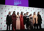 September 9, 2017, Tokyo, Japan - (L-R) Chris Peppler, Arisa Urahama, Mademoiselle Yulia, Yuka Mannami, Mitsuko Watanabe, Hikari Mori, Mika Nakashima, Ryo Ryusei and Naoki Kobayashi pose for photo at the opening ceremony for the Vogue Fashion's Night Out 2017 in Tokyo on Saturday, September 9, 2017. Some 630 shops participated one-night fashion shopping event in Tokyo. (Photo by Yoshio Tsunoda/AFLO) LWX -ytd-