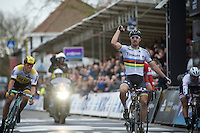 Peter Sagan (SVK/Tinkoff) takes his first win as a World Champion<br /> <br /> 78th Gent - Wevelgem in Flanders Fields (1.UWT)