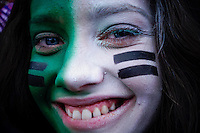 A New York Jets fan attends the NFL game against Buffalo Bills at MetLife Stadium in New Jersey. 09.05.2014. VIEWpress