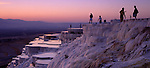 Asia, TUR, Turkey, Aegean Sea, Aegean, Pamukalle, Hot springs, Limestone terrace, Evening, Dusk, Panorama ....[ For each utilisation of my images my General Terms and Conditions are mandatory. Usage only against use message and proof. Download of my General Terms and Conditions under http://www.image-box.com or ask for sending. A clearance before usage is necessary...Material is subject to royalties. Each utilisation of my images is subject to a fee in accordance to the present valid MFM-List...Contact | archive@image-box.com | www.image-box.com ]