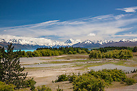Aoraki / Mt Cook from east Lake Pukaki, Mackenzie Country, South Island, New Zealand - stock photo, canvas, fine art print