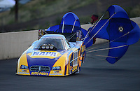 Jul, 20, 2012; Morrison, CO, USA: NHRA funny car driver Ron Capps during qualifying for the Mile High Nationals at Bandimere Speedway. Mandatory Credit: Mark J. Rebilas-