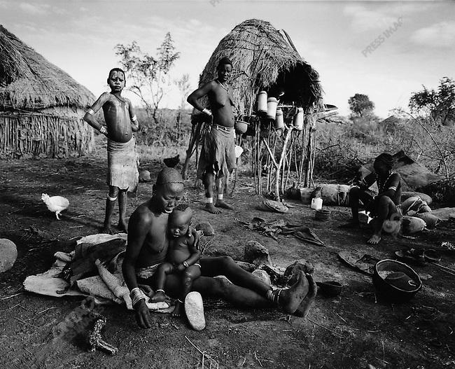 Bodi tribe, Omo Valley, southern Ethiopia, 2003-2004
