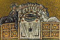 Ravenna: Mosaic--The Last Supper, 6th century. Basilica of Nuovo Sant'Apollinare.