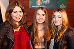 Katie Kierans, Lauren Healy and Lele McAllister enjoying a night in McPhails.<br /> Picture: Shane Maguire / www.newsfile.ie