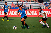 Kansas City, MO - Sunday September 3, 2017: Desiree Scott, Taylor Lytle during a regular season National Women's Soccer League (NWSL) match between FC Kansas City and Sky Blue FC at Children's Mercy Victory Field.