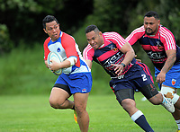 Action from the Village Kings 10s rugby tournament  match between Horowhenua Kapiti and Wellington Fijians at Porirua Park in Porirua, New Zealand on Saturday, 21 October 2017. Photo: Dave Lintott / lintottphoto.co.nz