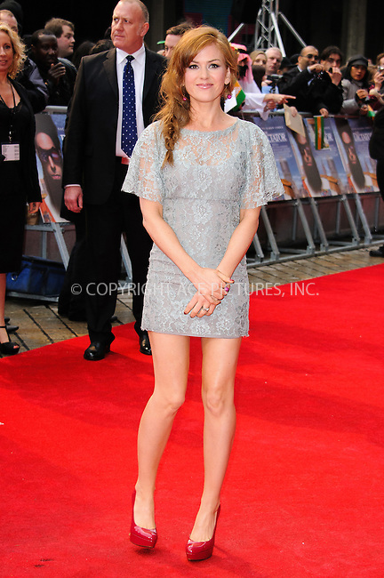 WWW.ACEPIXS.COM . . . . .  ..... . . . . US SALES ONLY . . . . .....May 10 2012, London....Isla Fisher at the World Premiere of 'The Dictator' at The Royal Festival Hall on May 10, 2012 in London, England.....Please byline: FAMOUS-ACE PICTURES... . . . .  ....Ace Pictures, Inc:  ..Tel: (212) 243-8787..e-mail: info@acepixs.com..web: http://www.acepixs.com