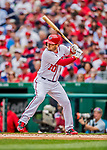 3 April 2017: Washington Nationals infielder Stephen Drew in action against the Miami Marlins on Opening Day at Nationals Park in Washington, DC. The Nationals defeated the Marlins 4-2 to open the 2017 MLB Season. Mandatory Credit: Ed Wolfstein Photo *** RAW (NEF) Image File Available ***