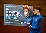 05.08.2019 Rangers RYDC Launch new Lotto Campaign. <br /> Nathan Young-Coombes