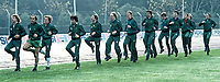 N Ireland team during a training session prior to N Ireland's November 1980 game against Portugal at Windsor Park. 19801100399m. Photo includes Jimmy Nicholl, Tommy Cassidy, Chris NIcholl, Noel Brotherston, Jim Platt, Sammy Nelson, Terry Cochrane, Billy Hamilton, Tom Finney, Gerry Armstrong, Dave McCreery, Sammy McIlroy, Mal Donaghy, John O'Neill and John McClelland. 19801100399m<br /> <br /> Copyright Image from Victor Patterson, 54 Dorchester Park, Belfast, UK, BT9 6RJ<br /> <br /> t: +44 28 9066 1296 (from Rep of Ireland 048 9066 1296)<br /> m: +44 7802 353836<br /> <br /> victorpattersonbelfast@gmail.com<br /> www.victorpatterson.com<br /> <br /> Please see my Terms and Conditions of Use at https://www.victorpatterson.com/page2<br /> It is IMPORTANT that you familiarise yourself with them.<br /> <br /> Images used online incur an additional cost and must be visibly watermarked i.e. © Victor Patterson within the body of the image and copyright metadata must not be deleted. Images used on the Internet have a size restriction of 4kbs and are chargeable at rates available at victorpatterson.com.<br /> <br /> This image is only available for the use of the download recipient i.e. television station, newspaper, magazine, book publisher, etc, and must not be passed on to any third party. It is also downloaded on condition that each and every subsequent usage is notified within 7 days to victorpattersonbelfast@gmail.com<br /> <br /> The right of Victor Patterson to be identified as the author is asserted in accordance with The Copyright Designs And Patents Act (1988). All moral rights are asserted.
