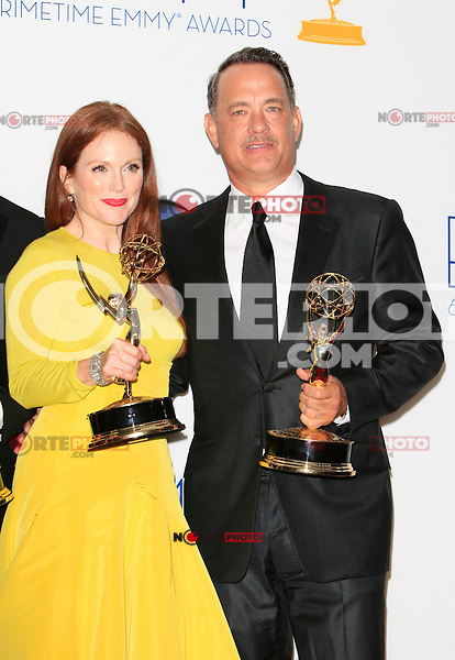 Julianne Moore and Tom Hanks at the 64th Annual Primetime Emmy Awards held in Los Angeles, California on 23.9.2012..Credit: Martin Smith/face to face / MediaPunch Inc.  ***online only for weekly magazines***** /NortePhoto<br />