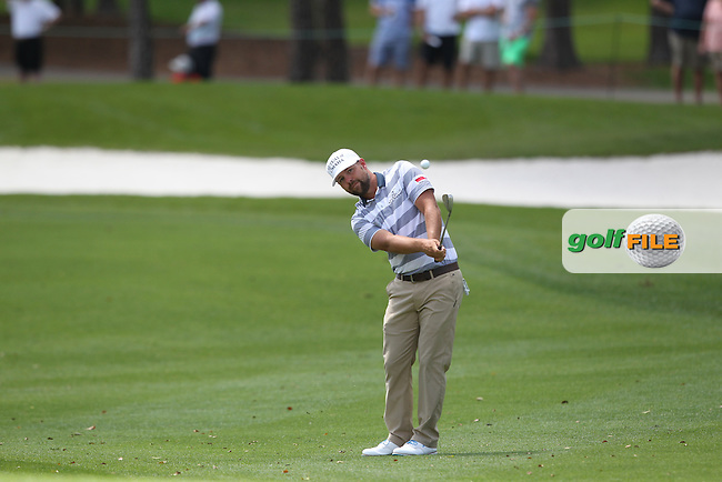 Ryan Moore of USA plays his second shot on the 1st fairway during the 3rd round of the Valspar Championship, Innisbrook Resort (Copperhead), Palm Harbor, Florida, USA<br /> Picture: Peter Mulhy / Golffile