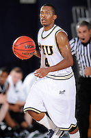 6 February 2010:  FIU's Phil Gary handles the ball in the second half as the North Texas Mean Green defeated the FIU Golden Panthers, 68-66, at the U.S. Century Bank Arena in Miami, Florida.
