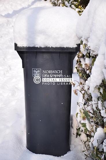 Snow, Norwich Feb 2018 UK