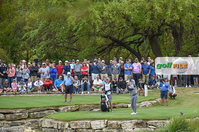 Lucas Bjerregaard (DEN) hits his shot from the drop zone on 11 during day 4 of the WGC Dell Match Play, at the Austin Country Club, Austin, Texas, USA. 3/30/2019.<br /> Picture: Golffile | Ken Murray<br /> <br /> <br /> All photo usage must carry mandatory copyright credit (© Golffile | Ken Murray)