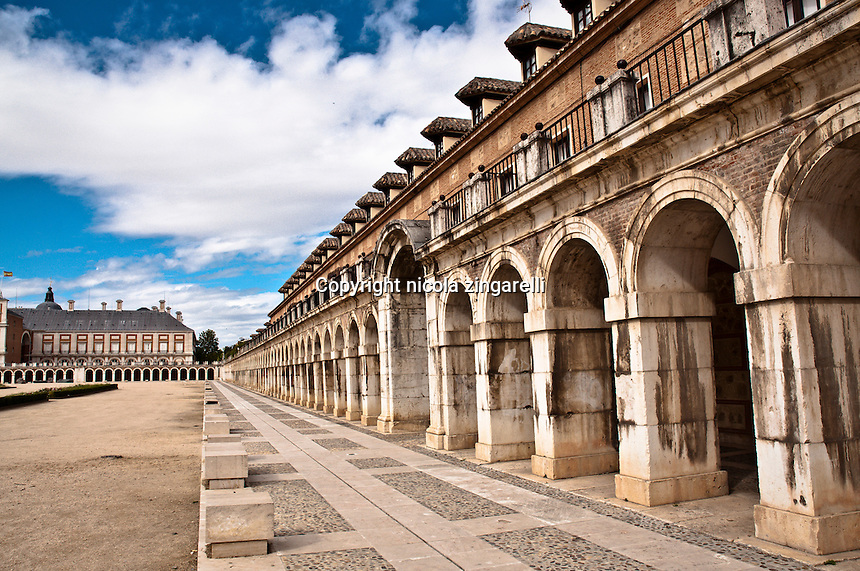 Knight's Palace in Aranjuez, a small town near madrid in Spain where is the old royal palace, and beautiful old buildings. The Palacio de los Caballerosused to be the residence for the royal court