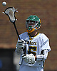 Ryan Candel #15 of Lynbrook catches a pass during a Nassau County varsity boys lacrosse game against Wantagh at Marion Street Elementary School on Wednesday, Apr. 27, 2016. He scored five goals in Lynbrook's 14-7 win.
