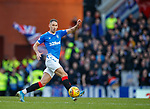 01.02.2020 Rangers v Aberdeen: The ball spins of Nikola Katic's foot and forces Allan McGregor into a one on one save with Sam Cosgrove