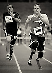 Marine Corps Wounded Warrior, Joshua Wege, during 100m competition during the 2011 Warrior Games, U.S. Olympic Training Center, Colorado Springs, CO.