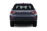 Straight rear view of 2017 Skoda Kodiaq Style 5 Door SUV Rear View  stock images