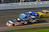 Kurt Busch (#1), Kyle Busch (#54), Ricky Stenhouse, Jr. (#6) and Sam Hornish, Jr. (#12).