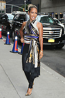 NEW YORK, NY- August 13: Jada Pinkett Smith at The Late Show With Stephen Colbert in New York City on August 13, 2019. Credit: RW/MediaPunch