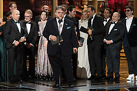 Guillermo del Toro, with the cast of &quot;The Shape of Water,&quot; accepts the Oscar&reg; for Best Motion Picture for work on &ldquo;The Shape of Water&rdquo; during the live ABC Telecast of the 90th Oscars&reg; at the Dolby&reg; Theatre in Hollywood, CA on Sunday, March 4, 2018.<br /> *Editorial Use Only*<br /> CAP/PLF/AMPAS<br /> Supplied by Capital Pictures