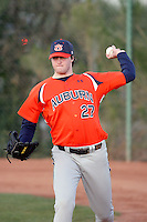 Cole Nelson, Auburn Tigers in a series at Arizona State University, 3/12 - 3/14/2010 .Photo by:  Bill Mitchell/Four Seam Images.