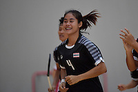 Thailand&rsquo;s Ruenrudee Saubsing in action during the World Floorball Championships 2017 Qualification for Asia Oceania Region - Japan v Thailand at ASB Sports Centre , Wellington, New Zealand on Saturday 4 February 2017.<br /> Photo by Masanori Udagawa<br /> www.photowellington.photoshelter.com.