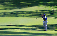 Jason Dufner (USA) on the 1st during Round 1 of the ISPS HANDA Perth International at the Lake Karrinyup Country Club on Thursday 23rd October 2014.<br /> Picture:  Thos Caffrey / www.golffile.ie